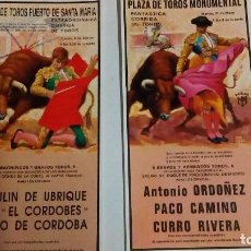 Tauromaquia: 2 POSTALES CON CARTELES TAURINOS. Lote 80322213