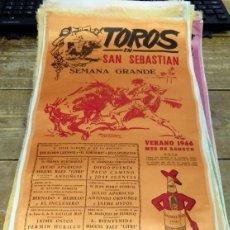 Tauromaquia: CARTEL TOROS EN SAN SEBASTIAN. SEMANA GRANDE, AÑO 1966. EN SEDA. Lote 80457593
