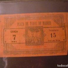 Tauromaquia: ANTIGUA ENTRADA DE TOROS PLAZA DE MADRID, 1909. Lote 80509989