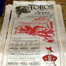 Tauromaquia: CARTEL DE SEDA. TOROS EN JEREZ. FIESTA DE LA VENDIMIA. 1962 (APARICIO, ORDOÑEZ, ROMERO MONDEÑO.....). Lote 80646530