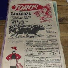 Tauromaquia: CARTEL DE TOROS DE ZARAGOZA EN SEDA .FIESTAS DEL PILAR DE 1970,23X49 CMS. Lote 80801831