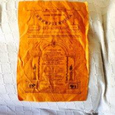 Tauromaquia: ANTIGUO CARTEL DE TOROS EN SEDA AÑO 1890. Lote 85838518