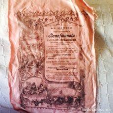 Tauromaquia: ANTIGUO CARTEL DE TOROS EN SEDA AÑO 1898. Lote 85838790