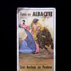 Tauromaquia: CARTEL PLAZA TOROS ALBACETE ANTONIO MONDEJAR-RICARDO SEVILLA-AGUSTÍN CARRIÓN. GANADERÍA CAJO AÑOS 80. Lote 86828376
