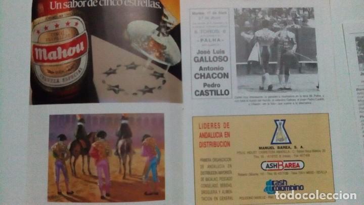 Tauromaquia: Programa oficial de la plaza de toros de Sevilla del año 90 - Foto 2 - 86886876