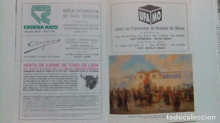 Tauromaquia: Programa oficial de la plaza de toros de Sevilla del año 90 - Foto 3 - 86886876