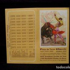 Tauromaquia: PROGRAMA PLAZA TOROS FERIA ALBACETE-CANO-JOSELITO-ESPARTACO-ESPLA-LITRI-CAMINO-OLIVA-AÑOS 80. Lote 86919096