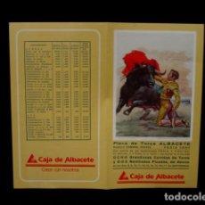 Tauromaquia: PROGRAMA PLAZA TOROS FERIA ALBACETE-CANO-JOSELITO-ESPARTACO-DÁMASO-LITRI-CAMPUZANO-OLIVA-AÑOS 80. Lote 86919236