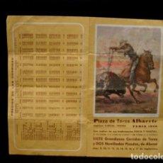 Tauromaquia: PROGRAMA PLAZA TOROS FERIA ALBACETE-CANO-JOSELITO-ESPARTACO-DÁMASO-LITRI-RAFI-OLIVA-AÑOS 80. Lote 86919404