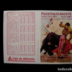 Tauromaquia: PROGRAMA PLAZA TOROS FERIA ALBACETE-LITRI-RAFI-NIÑO CAPEA-CANO-VIÑA-JOSELITO-ESPARTACO-ESPLA-AÑOS 80. Lote 86919856