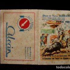 Tauromaquia: PROGRAMA PLAZA TOROS FERIA ALBACETE-LITRI-RAFI-NIÑO CAPEA-CANO-VIÑA-JOSELITO-ESPARTACO-ESPLA-AÑOS 60. Lote 86920272