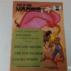 Tauromaquia: DÍPTICO DE LA PLAZA DE TOROS DE MADRID DEL AÑO 1984. Lote 87187272