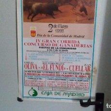 Tauromaquia: CARTEL DE MADRID DEL AÑO1992 DÍA DE LA COMUNIDAD DE MADRID. Lote 87875112