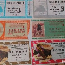 Tauromaquia: 12 ENTRADAS DE TOROS DE VARIAS PLAZAS Y AÑOS. Lote 88016852