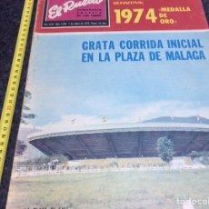Tauromaquia: EL RUEDO Nº 1594 - ENERO 1975 - GRATA CORRIDA INICIAL EN LA PLAZA DE MALAGA. Lote 88885984