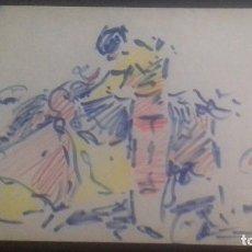 Tauromaquia: DIBUJO ORIGINAL A. GONZALEZ MARCOS PINTOR TAURINO BILBAO 1972 TOROS FIRMADO. Lote 88903320
