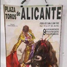 Tauromaquia: CARTEL TOROS ALICANTE MAESTRO ESPLA LITOGRÁFICO. Lote 89780740
