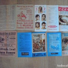 Tauromaquia: LOTE DE 5 CARTELES DE MANO DE PLAZAS DE TOROS DE ANDALUCIA, DESDE 1965 HASTA 1979. Lote 90462989