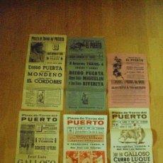 Tauromaquia: LOTE DE 6 CARTELES DE TOROS DEL PUERTO DE SANTAMARIA DESDE 1967 HASTA 1979. Lote 90463779