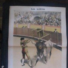 Tauromaquia: LA LIDIA - REVISTA TAURINA - AÑO 11 - NUMERO 4 - AÑO 1892 - ORIGINAL - VER FOTOS. Lote 90565345