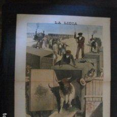 Tauromaquia: LA LIDIA - REVISTA TAURINA - AÑO 11 - NUMERO 14 - AÑO 1892 - ORIGINAL - VER FOTOS. Lote 90565830