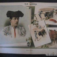 Tauromaquia: LA LIDIA - REVISTA TAURINA - AÑO 11 - NUMERO 15 - AÑO 1892 - ORIGINAL - VER FOTOS. Lote 90565900