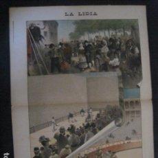 Tauromaquia: LA LIDIA - REVISTA TAURINA - AÑO 11 - NUMERO 21 - AÑO 1892 - ORIGINAL - VER FOTOS. Lote 90566110
