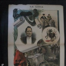 Tauromaquia: LA LIDIA - REVISTA TAURINA - AÑO 11 - NUMERO 22 - AÑO 1892 - ORIGINAL - VER FOTOS. Lote 90566315