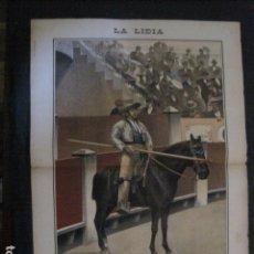Tauromaquia: LA LIDIA - REVISTA TAURINA - AÑO 11 - NUMERO 24 - AÑO 1892 - ORIGINAL - VER FOTOS. Lote 90566580
