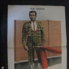 Tauromaquia: LA LIDIA - REVISTA TAURINA - AÑO 11 - NUMERO 31 - AÑO 1892 - ORIGINAL - VER FOTOS. Lote 90567180