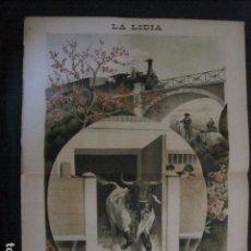 Tauromaquia: LA LIDIA - REVISTA TAURINA - AÑO 12 - NUMERO 2 - AÑO 1893 - ORIGINAL - VER FOTOS. Lote 90567375