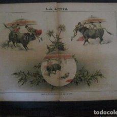 Tauromaquia: LA LIDIA - REVISTA TAURINA - AÑO 12 - NUMERO 4 - AÑO 1893 - ORIGINAL - VER FOTOS. Lote 90567620