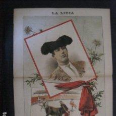 Tauromaquia: LA LIDIA - REVISTA TAURINA - AÑO 12 - NUMERO 11 - AÑO 1893 - ORIGINAL - VER FOTOS. Lote 90568325