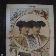 Tauromaquia: LA LIDIA - REVISTA TAURINA - AÑO 12 - NUMERO 12 - AÑO 1893 - ORIGINAL - VER FOTOS. Lote 90568385
