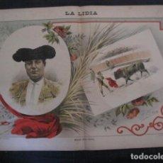 Tauromaquia: LA LIDIA - REVISTA TAURINA - AÑO 12 - NUMERO 14 - AÑO 1893 - ORIGINAL - VER FOTOS. Lote 90568530