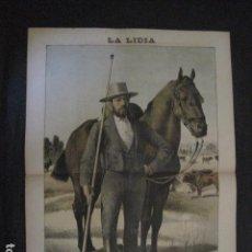 Tauromaquia: LA LIDIA - REVISTA TAURINA - AÑO 12 - NUMERO 16 - AÑO 1893 - ORIGINAL - VER FOTOS. Lote 90568695
