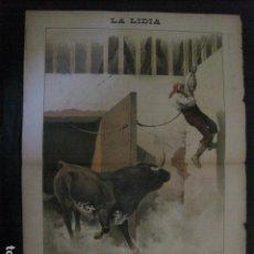 Tauromaquia: LA LIDIA - REVISTA TAURINA - AÑO 12 - NUMERO 25 - AÑO 1893 - ORIGINAL - VER FOTOS. Lote 90569140