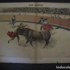 Tauromaquia: LA LIDIA - REVISTA TAURINA - AÑO 12 - NUMERO 27 - AÑO 1893 - ORIGINAL - VER FOTOS. Lote 90569305
