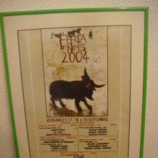 Tauromachia: CUADRO CARTEL TAURINO DE LA FERIA DE NIMES 2004 CON SU CRISTALINA(#). Lote 91303415