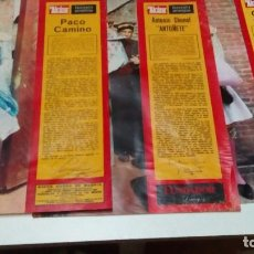Tauromaquia: 15 COLECCIONABLES DE TOREROS DE LOS AÑOS 70 , PACO CAMINO, ANTONIO ORDÓÑEZ, ANTOÑETE, DIEGO PUERTA. Lote 92765390