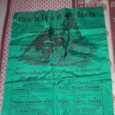 Tauromaquia: CARTEL DE SEDA.TOROS.1965.SEVILLA. Lote 94526130