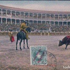 Tauromaquia: POSTAL TAUROMAQUIA - TOROS - SUERTE DE VARA 1913 3 49033 - CIRCULADA. Lote 94628151