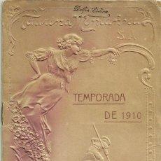 Tauromaquia: FANTÁSTICO PROGRAMA DE FESTEJOS TAURINOS-AÑO 1910-SANTANDER-TAURINA MONTAÑESA, S.A.. Lote 95763699