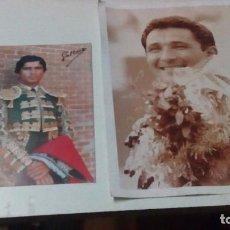Tauromaquia: DOS FOTOS DE TOREROS, J O GALLOSO Y CÉSAR RINCÓN. Lote 96657371