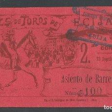 Tauromaquia: ENTRADA PLAZA DE TOROS DE ÉCIJA - 22 DE SEPTIEMBRE DE 1914 - P22630. Lote 96717887