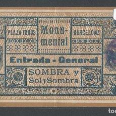 Tauromaquia: ENTRADA PLAZA DE TOROS MONUMENTAL DE BARCELONA - P22628. Lote 96717983