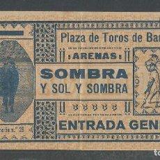 Tauromaquia: ENTRADA PLAZA DE TOROS ARENAS DE BARCELONA - P22627. Lote 96718019