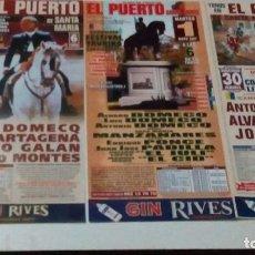 Tauromaquia: 3 CARTELES DE TOROS DEL PUERTO, DE REJONEADORES,DE LOS AÑOS 2005, 06, 07. Lote 96720555