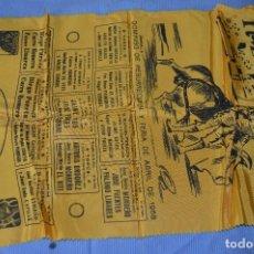 Tauromaquia: CARTEL DE TOROS SEDA - PLAZA DE TOROS DE SEVILLA - ABRIL 1968 - MUY BUEN ESTADO - ¡MIRA!. Lote 97187455