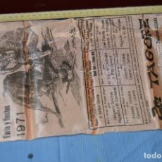 Tauromaquia: CARTEL DE TOROS SEDA - PLAZA DE TOROS DE MÁLAGA - FERIAS Y FIESTAS 1971 - MUY BUEN ESTADO - ¡MIRA!. Lote 97188299